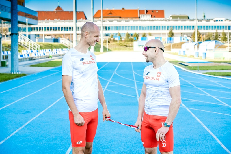 Action led by a marathon runner Marcin Grabiński, who lost his sight